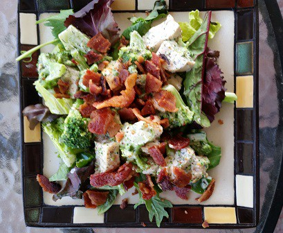 Chicken Salad with Broccoli and Bacon
